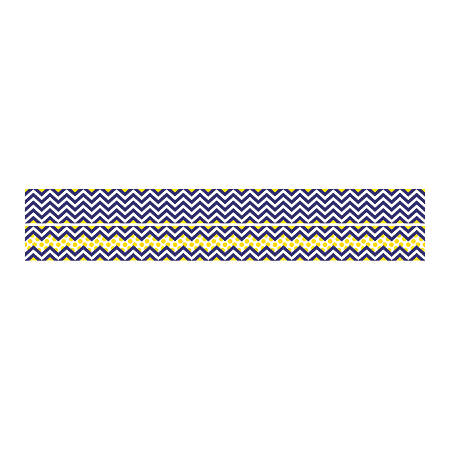 "Barker Creek Double-Sided Straight-Edge Border Strips, 3"" x 35"", Chevron Navy, Pack Of 12"