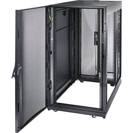 "Schneider Electric NetShelter SX 24U 600mm x 1070mm Deep Enclosure - For Server - 24U Rack Height x 19"" Rack Width - Floor Standing - Black - 2254.73 lb Dynamic/Rolling Weight Capacity - 3006.31 lb Static/Stationary Weight Capacity"