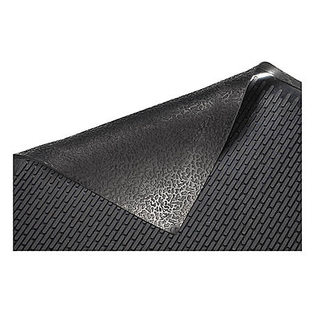 Genuine Joe Clean Step 50% Recycled Scraper Mat, 3' x 5', Black