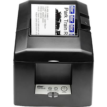 "Star Micronics TSP654II Direct Thermal Printer - Monochrome - Wall Mount - Receipt Print - 3.15"" Print Width - 11.81 in/s Mono - 203 dpi - 3.15"" Label Width"