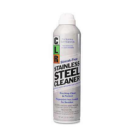 CLR Stainless Steel Cleaner, Citrus, 12 Oz, Carton Of 6