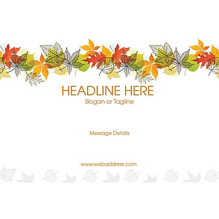 Adhesive Sign, Color leaves, Horizontal
