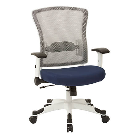 Office Star™ Space Seating Mesh Mid-Back Chair, Navy/White