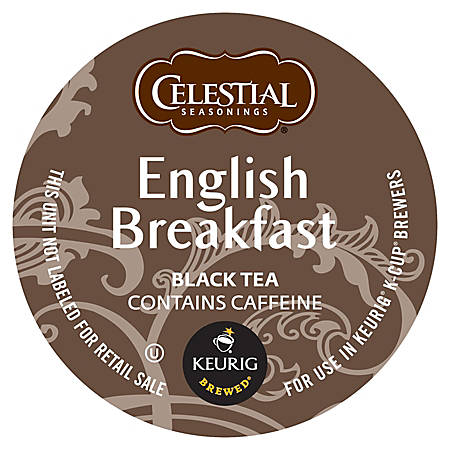 Celestial Seasonings® Devonshire English Breakfast Black Tea K-Cup® Pods, 0.40 Oz, Box Of 96