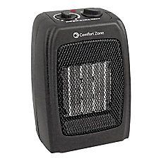 Comfort Zone CZ442 Ceramic HeaterFan Black