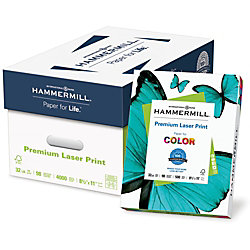 """Hammermill® Laser Paper, Letter Size (8 1/2"""" x 11""""), 32 Lb, 500 Sheets Per Ream, Case Of 10 Reams"""