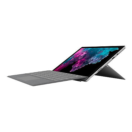 """Microsoft Surface Pro 6 Tablet - 12.3"""" - 8 GB RAM - 256 GB SSD - Windows 10 Home - Platinum - Intel Core i5 1.60 GHz - microSDXC Supported - 5 Megapixel Front Camera - 8 Megapixel Rear Camera"""