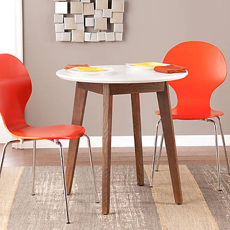 Holly & Martin Oden Round Table, White/Burnt Oak