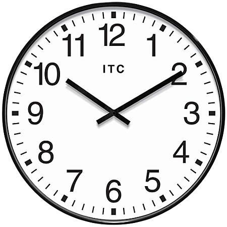 "Infinity Instruments Round Wall Clock, 19 15/16"", Black/White"