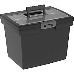 Storex Nesting Portable File Box External