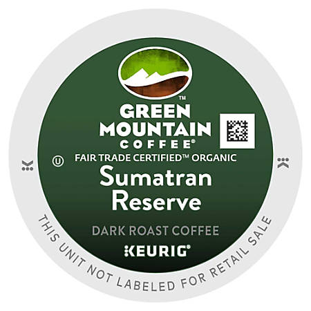 Green Mountain Coffee® Sumatran Reserve Coffee Single-Serve K-Cup®, 1.4 Oz, Carton Of 96