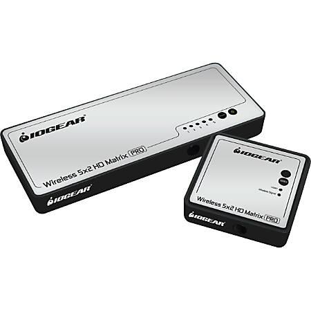 IOGEAR Long Range Wireless 5x2 HD Video Matrix Pro