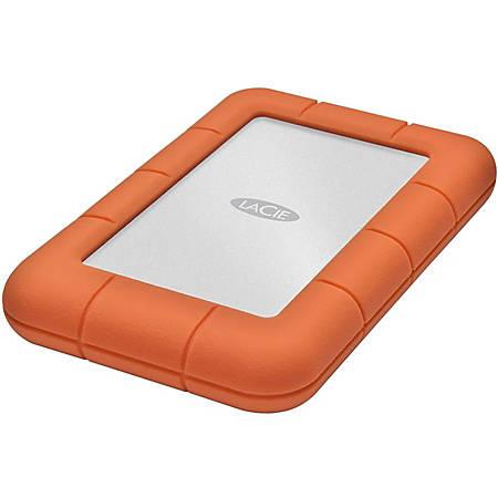 LaCie Rugged Mini 2 TB Hard Drive - External - Portable - USB 3.0 - 5400rpm - Orange, Silver - 1 Pack