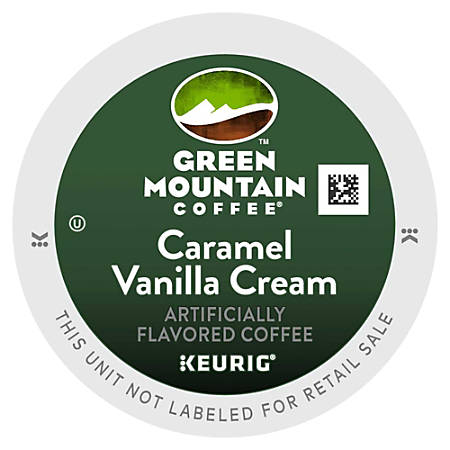 Green Mountain® Pods Caramel Vanilla Cream Coffee K-Cup® Pods, 0.4 Oz, Box Of 96