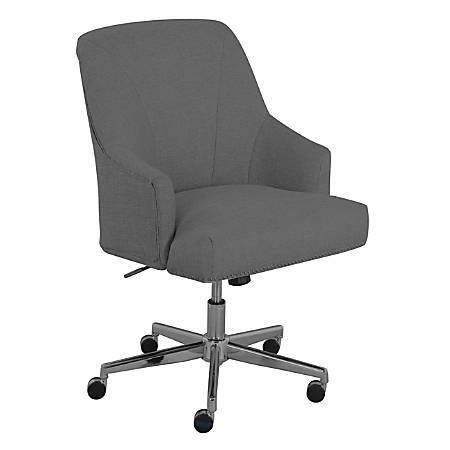 Serta® Leighton Mid-Back Office Chair, Medium Gray/Chrome