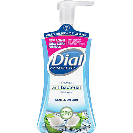 Dial Professional Antibacterial Foaming Hand Soap, Coconut Waters, 7.5 Oz