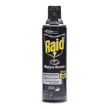 Raid Wasp/Hornet Killer Spray - Spray - Kills Hornet, Wasp, Mud Dauber, Yellow Jacket, Bugs - 14 fl oz - White