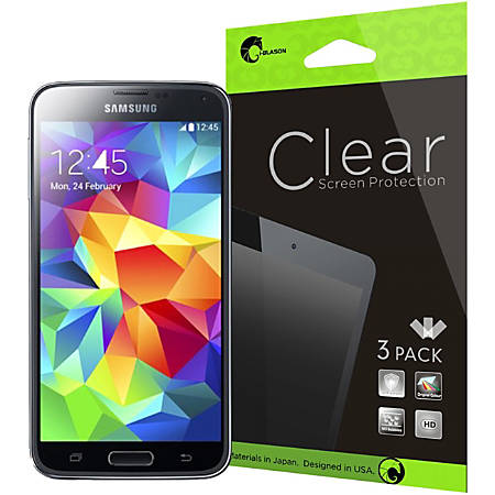 i-Blason 3 Pack Screen Protectors for Samsung Galaxy S5 Clear Clear - For  LCD Smartphone - Dust-free, Scratch Resistant - PET (Film) - Clear Item #