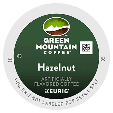 Green Mountain Coffee® Hazelnut Coffee K-Cup® Pods, 0.4 Oz, Box Of 96