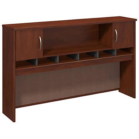 "Bush Business Furniture Components 2 Door Hutch, 72""W, Hansen Cherry/Graphite Gray, Standard Delivery"