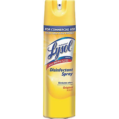 Lysol® Professional Disinfectant Spray, Original Scent, 19 Oz., Case Of 12