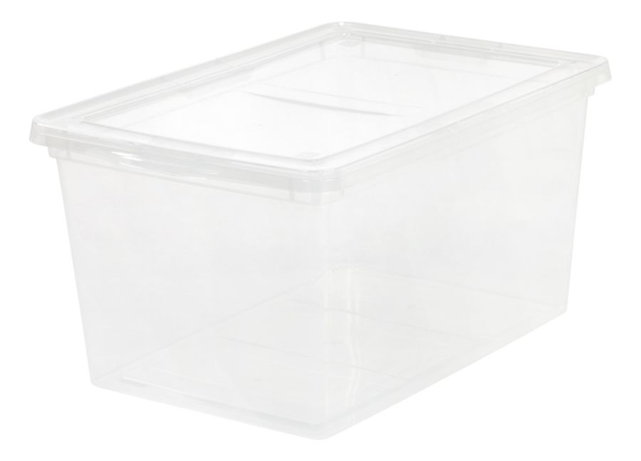 Office Depot Brand Storage Box With Snap On Lids 58 Quart 12 18 H x