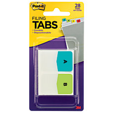 Post it Preprinted Filing Tabs Letters