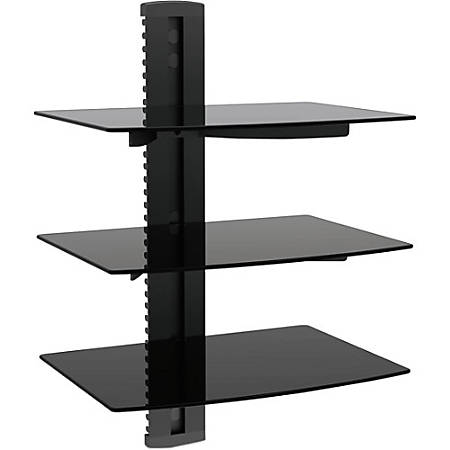 Ematic Mounting Shelf for DVD Player, DVR, Gaming Console - Black - 17.60 lb Load Capacity