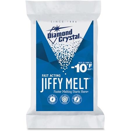 Diamond Crystal Garland Norris Jiffy Melt - Crystal - Sodium Chloride, Magnesium Chloride -10°F (-23.3°C) - 20 lb