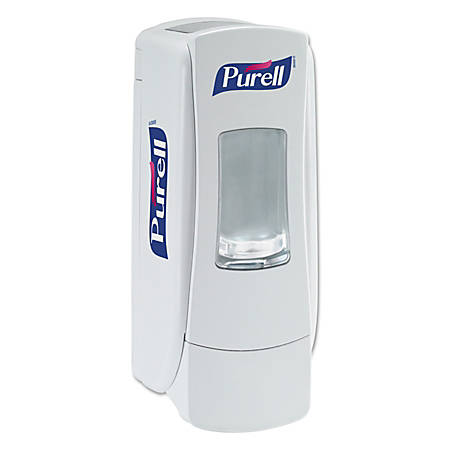 "Purell® ADX-7™ Sanitizer Dispenser, 3 3/4"" x 3 1/2"", White"