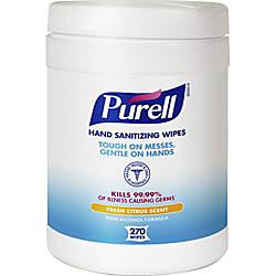 PURELL Sanitizing Wipes White Ethyl Alcohol