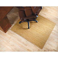Realspace Bamboo Roll Up Chair Mat
