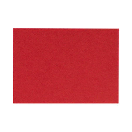 """LUX Flat Cards, A6, 4 5/8"""" x 6 1/4"""", Ruby Red, Pack Of 50"""