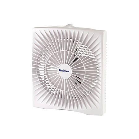 """Holmes HABF120W Portable Fan - 10"""" Diameter - 2 Speed - 12"""" Height x 10"""" Width x 5"""" Depth - White"""