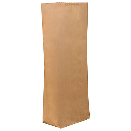 """Partners Brand Grocery Bags, 29 1/2""""H x 17""""W x 6""""D, Kraft, Case Of 250"""