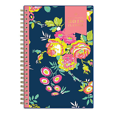 """Day Designer for Blue Sky™ Create Your Own Cover Weekly/Monthly Planner, 5"""" x 8"""", 50% Recycled, Peyton Navy, January to December 2018 (103620)"""
