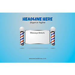 Adhesive Sign Salon Pole Horizontal