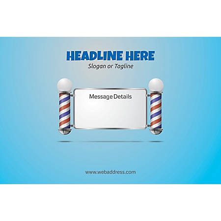 Adhesive Sign, Salon Pole, Horizontal
