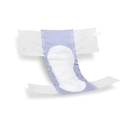 FitRight Extra Disposable Briefs, Regular, Blue/White, 20 Briefs Per Bag, Case Of 4 Bags