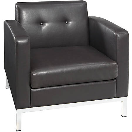 Avenue Six Wall Street Chair With 2 Arms, Espresso