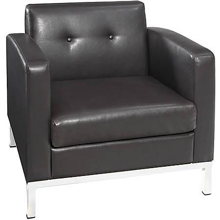 "Avenue Six Wall Street Chair With 2 Arms, 30""H x 30 1/2""W x 29 1/2""D, Espresso"