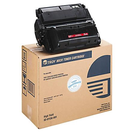 Troy TRS0281136001 (HP 42X / Q5942X) High-Yield Black MICR Toner Cartridge