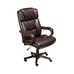 Broyhill Tall Traditional Executive Chair With Wood Accents