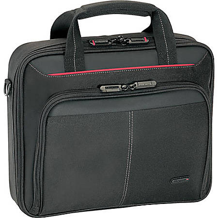"""Targus CN31US Carrying Case for 15.6"""" Notebook - Black, Red - Polyester - Shoulder Strap, Handle - 13"""" Height x 15.3"""" Width x 3"""" Depth"""