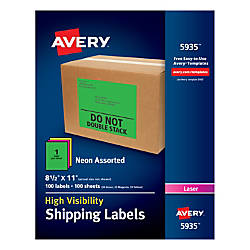 Avery High Visibility Shipping Labels 5935