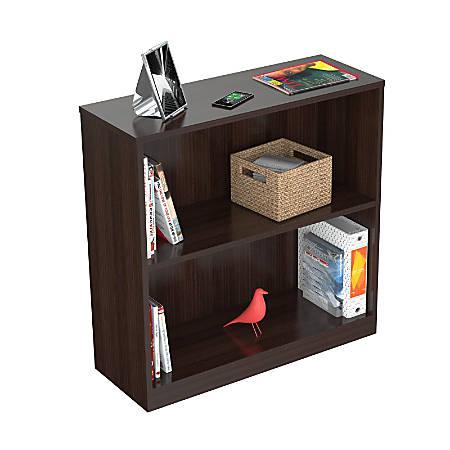 Inval 2-Cube Bookcase Hutch, Espresso-Wengue