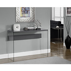 Monarch Specialties Console Table With Glass