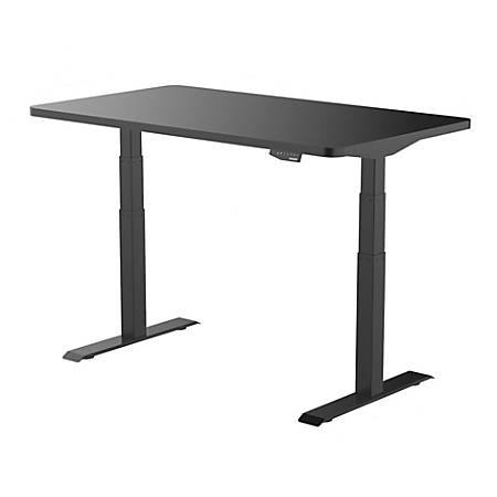 "Loctek SanoDesk Pro Height-Adjustable Desk, 55""W, Black"