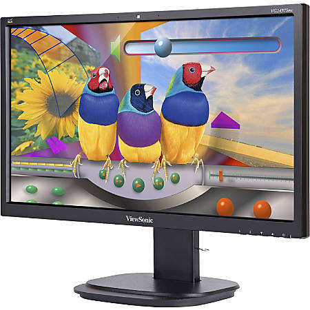 "ViewSonic® VG2437SMC 24"" Ergonomic Full HD LED Monitor"