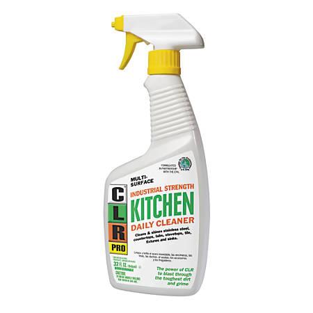 CLR PRO Daily Kitchen Cleaner, Light Lavender Scent, 32 Oz, Case Of 6